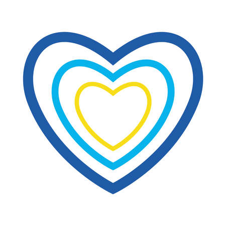 down syndrome heart flat style icon design, disability support and solidarity theme Vector illustration Illusztráció