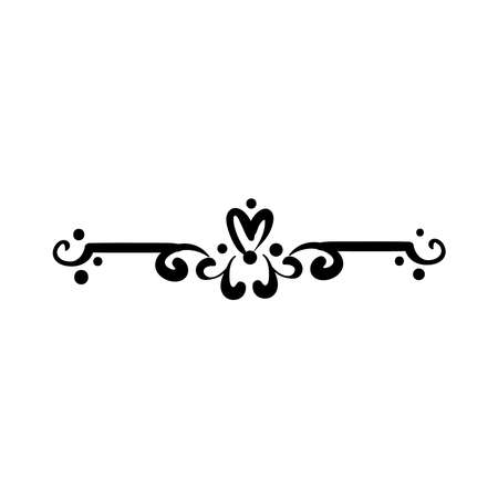 elegant border frame with flowers and leafs decoration silhouette style icon vector illustration design Stock Illustratie