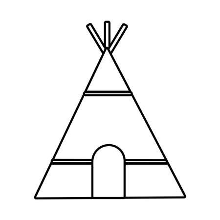 native american hut line style icon vector illustration design