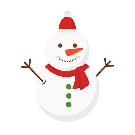 merry christmas snowman design, winter season and decoration theme Vector illustration