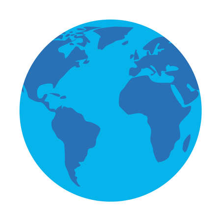 World sphere design, Planet continent earth and globe theme Vector illustration
