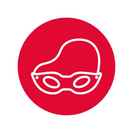 mask party line style icon vector illustration design Иллюстрация