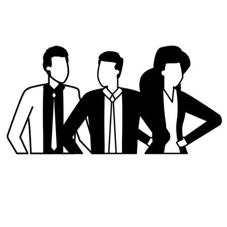 businessmen and woman group team work vector illustration Stock fotó - 155883052