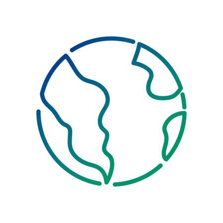 world planet earth line style icon vector illustration design