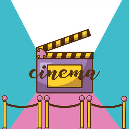 Cinema clapboard design, Movie video film media entertainment show and event theme Vector illustration