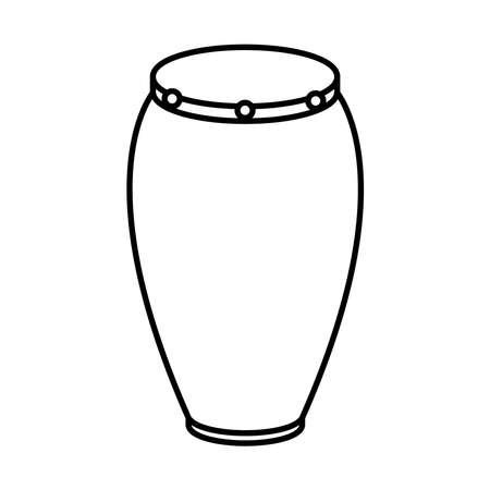 bongo drum instrument style line icon vector illustration design Иллюстрация