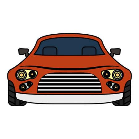 sedan car vehicle isolated icon vector illustration design