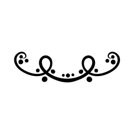 elegant border frame with leafs decoration silhouette style icon vector illustration design Illusztráció
