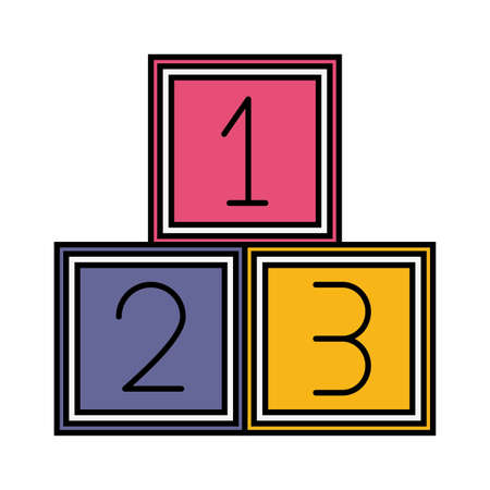 number cubes kids zone on white background vector illustration Illusztráció