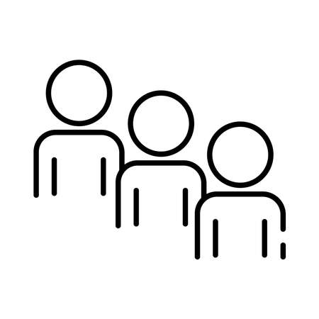 teamworkers figures coworking line style icon vector illustration design