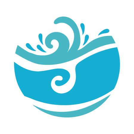 ocean water flat style icon vector illustration design