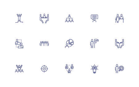 bundle of business people set icons vector illustration design Stock fotó - 155880673
