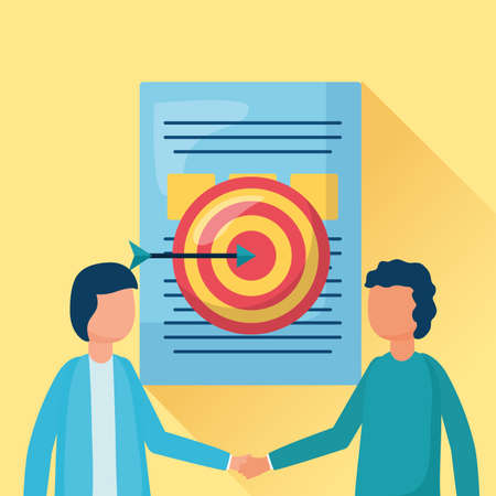 businessmen target document business handshake vector illustration Stock fotó - 155884012