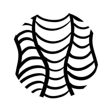 net organic pattern line style vector illustration design