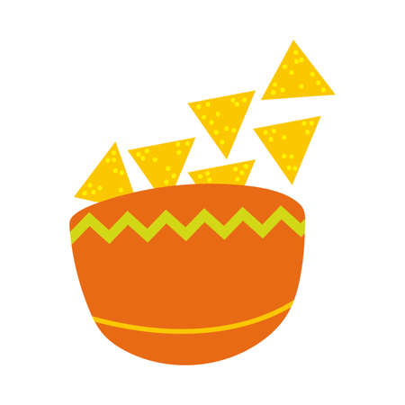 nachos mexican food fill style icon vector illustration design