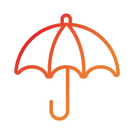 umbrella insurance gradient style icon vector illustration design Illusztráció