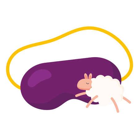 insomnia purple mask and sheep design, sleep and night theme Vector illustration 版權商用圖片 - 155935956