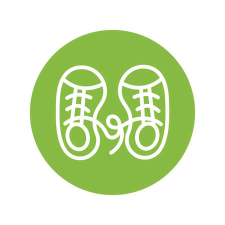 clown shoes april fools day line style vector illustration design