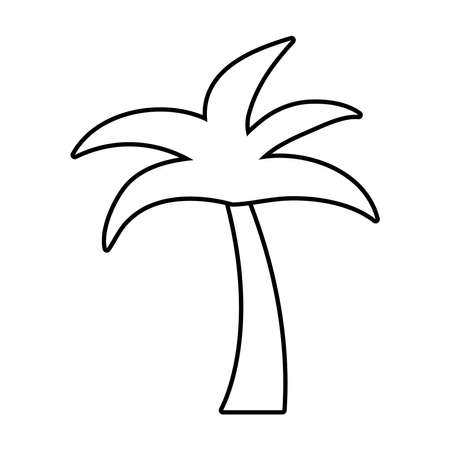 tree palm line style icon vector illustration design vector illustration design