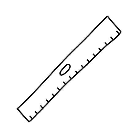 rule school supply line style icon vector illustration design
