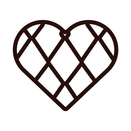 heart with oktoberfest flag line style icon vector illustration design