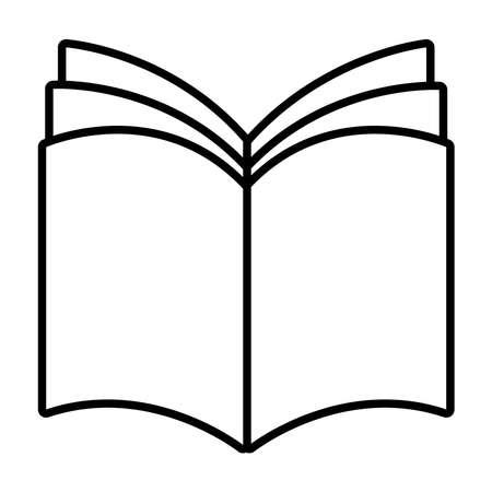 book school open line style icon vector illustration design Vector Illustratie