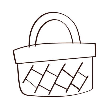 shopping basket line style icon vector illustration design