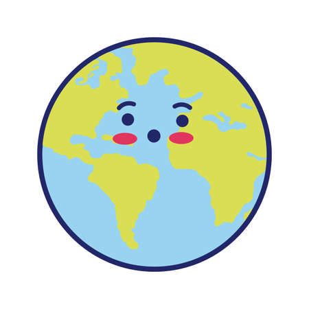 world planet earth line and fill style vector illustration design Illusztráció