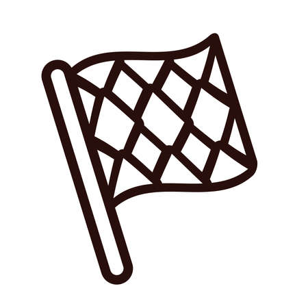 oktoberfest flag line style icon vector illustration design