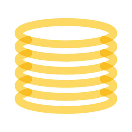 pile coins money dollars multiply line style icon vector illustration design