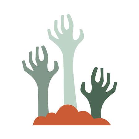 death hands flat style icon vector illustration design