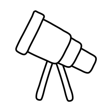 telescope space accessory line style icon vector illustration design