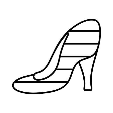 shoe heel line style icon vector illustration design Illustration