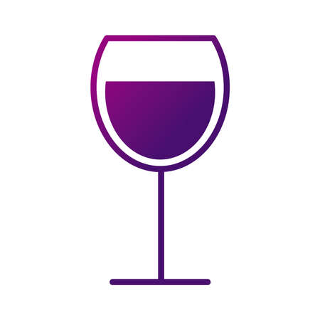 wine cup drink gradient style icon vector illustration design