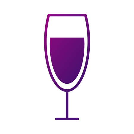 wine cup drink style gradient icon vector illustration design 向量圖像
