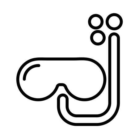 snorkel accessory line style icon vector illustration design Stock Illustratie