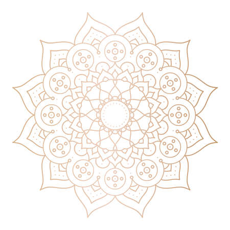 decorative floral golden mandala ethnicity artistic icon vector illustration design