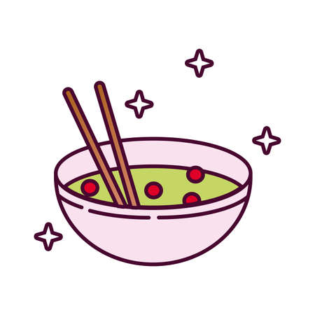 chinese dish detailed style icon vector illustration design
