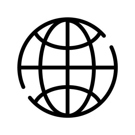 sphere planet browser line style icon vector illustration design