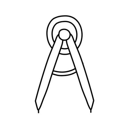 compass school supply line style icon vector illustration design Ilustracja