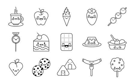 bundle of nutritive food set icons vector illustration design Vecteurs