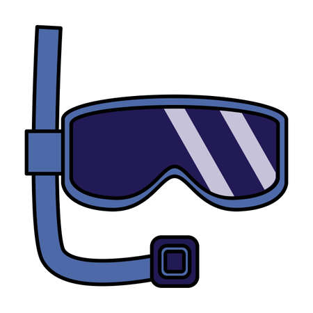 snorkel mask on white background vector illustration