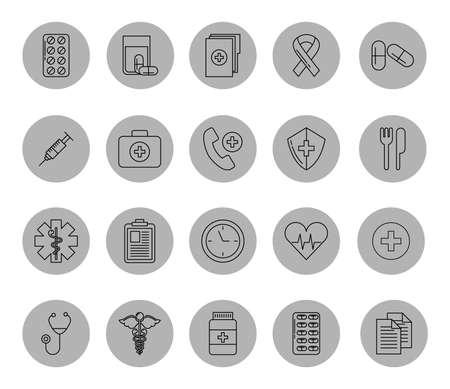 bundle of medical healthcare icons vector illustration design
