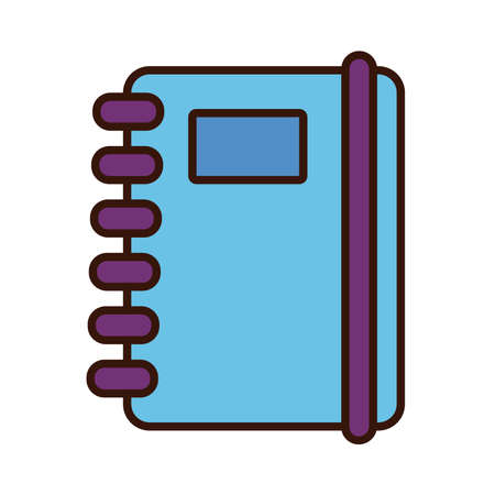 notebook school line and fill style icon vector illustration design