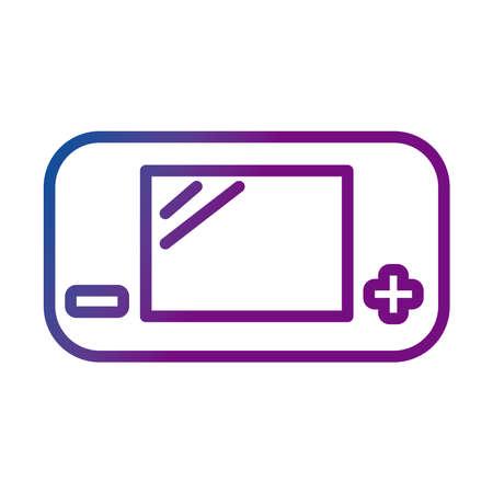 video game console portable gradient style icon vector illustration design