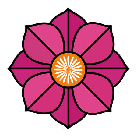 indian lotus flower nature icon vector illustration design Ilustração