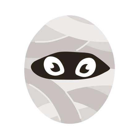 mummy halloween character flat style icon vector illustration design