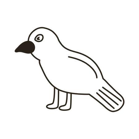 dark raven line style icon vector illustration design