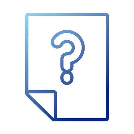 paper document with question symbol gradient style icon vector illustration design