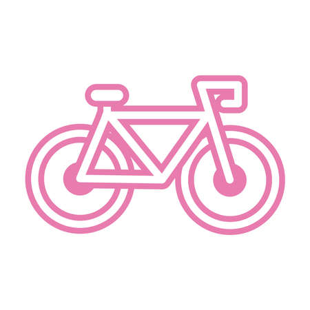 bicycle pink line style icon vector illustration design 일러스트